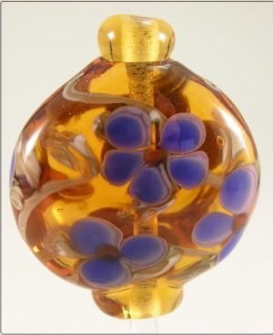 Amber Lantern Focal Bead
