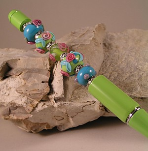 Green Bead Pen